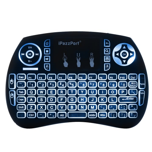 iPazzPort KP-810-21SDL Handheld 2.4G Wireless Multimedia Mini QWERTY Keyboard with Touchpad Mouse Remote Control with Backlit forComputer &amp; Stationery<br>iPazzPort KP-810-21SDL Handheld 2.4G Wireless Multimedia Mini QWERTY Keyboard with Touchpad Mouse Remote Control with Backlit for<br>