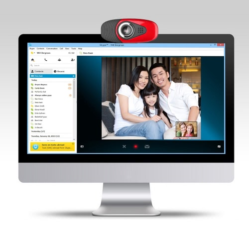 USB2.0 Webcam Clip-on Camera HD 12 Megapixels Camera with Built-in Sound Absorption Microphone Stand for Computer PC LaptopComputer &amp; Stationery<br>USB2.0 Webcam Clip-on Camera HD 12 Megapixels Camera with Built-in Sound Absorption Microphone Stand for Computer PC Laptop<br>