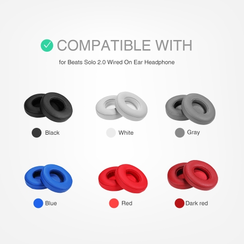 Replacement Memory Ear Pad Cushion Protein Leather Memory Foam for Beats Solo 2.0 Wired On Ear HeadphoneComputer &amp; Stationery<br>Replacement Memory Ear Pad Cushion Protein Leather Memory Foam for Beats Solo 2.0 Wired On Ear Headphone<br>