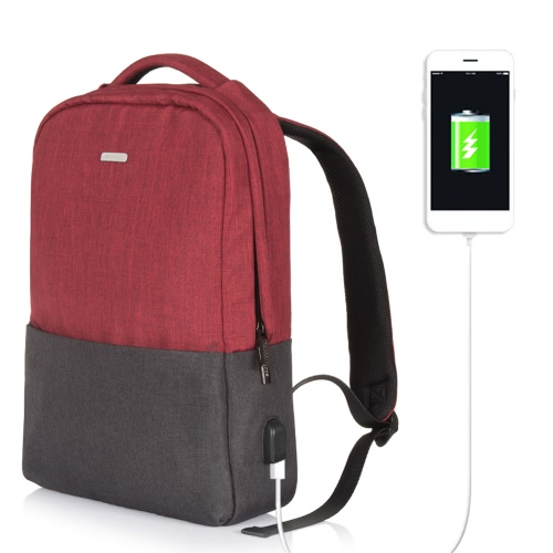OSOCE Computer Backpack Laptop Notebook School Travel Bag with External USB Port Waterproof  Dark GreyComputer &amp; Stationery<br>OSOCE Computer Backpack Laptop Notebook School Travel Bag with External USB Port Waterproof  Dark Grey<br>
