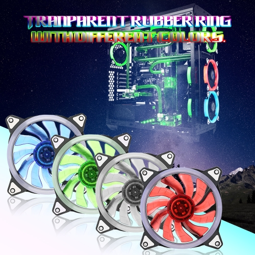 Case Cooling Fans 120mm with 15 LEDs Ring for Computer Cooling High Performance Adjustable Radiator Fan CPU CoolerComputer &amp; Stationery<br>Case Cooling Fans 120mm with 15 LEDs Ring for Computer Cooling High Performance Adjustable Radiator Fan CPU Cooler<br>