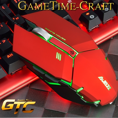 AJAZZ GTC-3050 Professional Gaming Wired Mouse 4000 DPI Optical USB Mouse 6 Breathing LED Light Mode 7 Buttons with aluminum wheelComputer &amp; Stationery<br>AJAZZ GTC-3050 Professional Gaming Wired Mouse 4000 DPI Optical USB Mouse 6 Breathing LED Light Mode 7 Buttons with aluminum wheel<br>