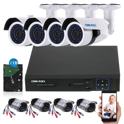 OWSOO 4CH H.264 1080P Full AHD Camera System PAL SystemSmart Device &amp; Safety<br>OWSOO 4CH H.264 1080P Full AHD Camera System PAL System<br>