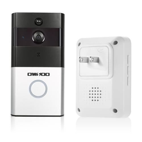 1*OWSOO 720P WiFi Visual Intercom Door Phone+1*Wireless Doorbell Chime