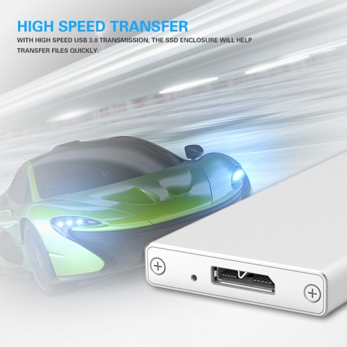 Portable Aluminum mSATA to USB 3.0 SSD Enclosure Adapter Case High Speed Mini-SATA External SSD Mobile Box Solid State Drive CaseComputer &amp; Stationery<br>Portable Aluminum mSATA to USB 3.0 SSD Enclosure Adapter Case High Speed Mini-SATA External SSD Mobile Box Solid State Drive Case<br>