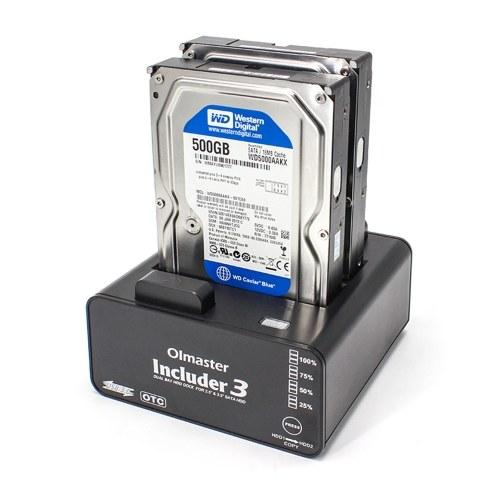 2.5 / 3.5 pulgadas SATA HDD / SSD Dual Bay HDD Docking USB3.0 Interfaz externa Hard Disk Enclosure HDD Docking para Windows 2003 / XP / Vista / Win7 / Win8 / Win10 / Linux / MAC10.3 y superior
