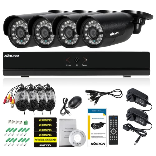KKmoon 4CH Channel Full AHD 1080N/720P Security SystemSmart Device &amp; Safety<br>KKmoon 4CH Channel Full AHD 1080N/720P Security System<br>