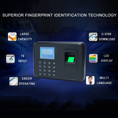 Intelligent Biometric Fingerprint Password Attendance Machine Employee Checking-in Recorder 2.4 inch TFT LCD Screen DC 5V Time AttComputer &amp; Stationery<br>Intelligent Biometric Fingerprint Password Attendance Machine Employee Checking-in Recorder 2.4 inch TFT LCD Screen DC 5V Time Att<br>