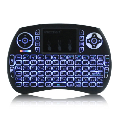 iPazzPort KP-810-21SDL Handheld 2.4G Wireless Multimedia Mini Russian Version Keyboard with Touchpad Mouse Remote Control with BacComputer &amp; Stationery<br>iPazzPort KP-810-21SDL Handheld 2.4G Wireless Multimedia Mini Russian Version Keyboard with Touchpad Mouse Remote Control with Bac<br>