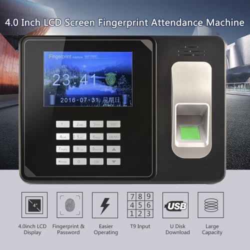 Intelligent Biometric Fingerprint Password Attendance Machine Employee Checking-in Recorder TCP/IP 4.0 inch TFT LCD Screen DC 5V TComputer &amp; Stationery<br>Intelligent Biometric Fingerprint Password Attendance Machine Employee Checking-in Recorder TCP/IP 4.0 inch TFT LCD Screen DC 5V T<br>