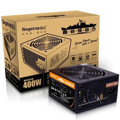 Segotep S7 400W ATX PC Computer Power Supply Desktop Gaming PSU Active PFC 120mm Fan 170-264VComputer &amp; Stationery<br>Segotep S7 400W ATX PC Computer Power Supply Desktop Gaming PSU Active PFC 120mm Fan 170-264V<br>