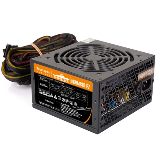 Segotep F7 500W ATX Computer Power Supply Desktop Gaming PSU Active PFC 120MM Fan 90-264VComputer &amp; Stationery<br>Segotep F7 500W ATX Computer Power Supply Desktop Gaming PSU Active PFC 120MM Fan 90-264V<br>