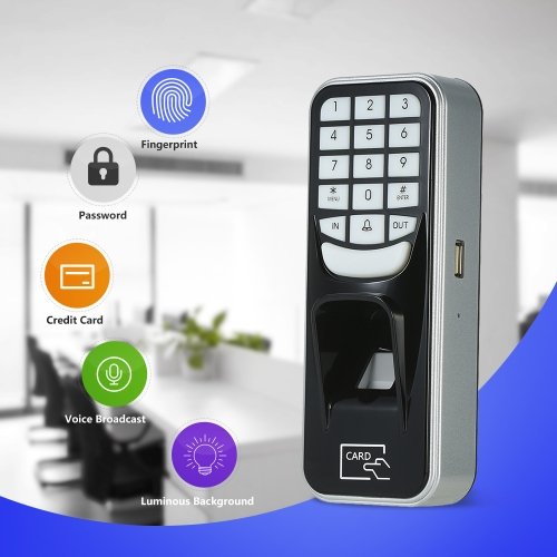 Fingerprint Password ID Card Lock Access Control  Off-line Attendance MachineComputer &amp; Stationery<br>Fingerprint Password ID Card Lock Access Control  Off-line Attendance Machine<br>