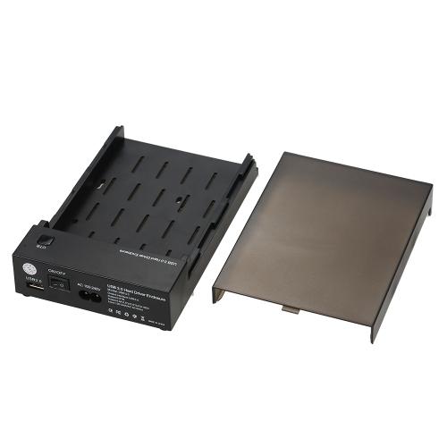 "USB 3.0 Disco de disco duro SATA de 2.5 ""3.5"" Caja externa Disco SSD HDD Caja de caja portátil Soporta unidades UASP y 8TB con OTB One Touch Backup US Plug"