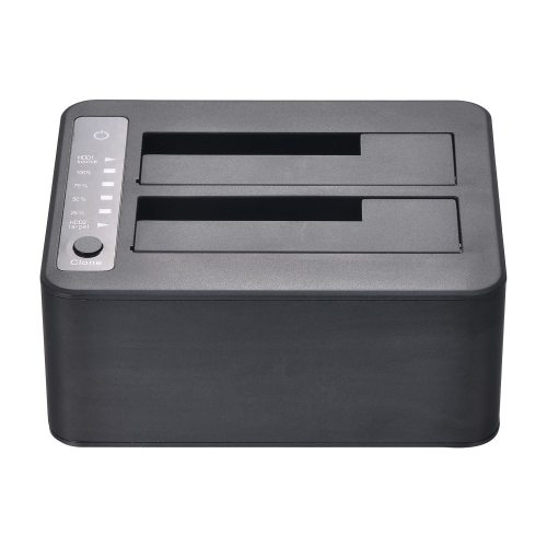 Super Speed 5Gbps USB 3.0 to Dual SATA Docking Station HDD Enclosure Hard Disk Drive Base External SSD Case with Offline Clone FunComputer &amp; Stationery<br>Super Speed 5Gbps USB 3.0 to Dual SATA Docking Station HDD Enclosure Hard Disk Drive Base External SSD Case with Offline Clone Fun<br>