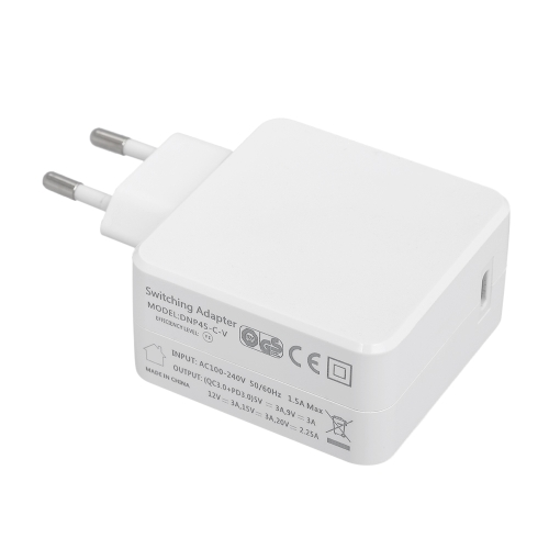 45W USB Type-C Wall Charger USB-C PD Quick Charge Power Adapter with Power Delivery for MacBook iPhone8 iPhoneX EU Plug WhiteComputer &amp; Stationery<br>45W USB Type-C Wall Charger USB-C PD Quick Charge Power Adapter with Power Delivery for MacBook iPhone8 iPhoneX EU Plug White<br>