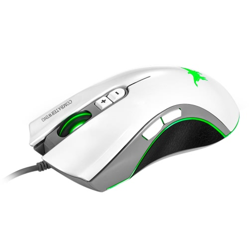 Combaterwing CW10 Professional Esport Gaming Mouse USB Wired Mice 7D Buttons 4800DPI Adjustable with Breathing LED Light for Pro GComputer &amp; Stationery<br>Combaterwing CW10 Professional Esport Gaming Mouse USB Wired Mice 7D Buttons 4800DPI Adjustable with Breathing LED Light for Pro G<br>