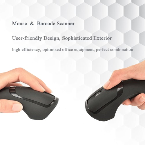 2-in-1 2.4G Wireless Mouse Mice 1000 DPI &amp; Barcode Scanner Handheld Scanning 1D Bar Code Reader Decoder High SpeedComputer &amp; Stationery<br>2-in-1 2.4G Wireless Mouse Mice 1000 DPI &amp; Barcode Scanner Handheld Scanning 1D Bar Code Reader Decoder High Speed<br>