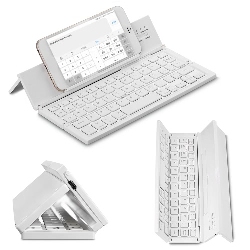 CL-888 Foldable Bluetooth Keyboard Wireless Ultra Slim Pocket Keyboard with Kickstand Universal for Smart Phone Tablet PC BlackComputer &amp; Stationery<br>CL-888 Foldable Bluetooth Keyboard Wireless Ultra Slim Pocket Keyboard with Kickstand Universal for Smart Phone Tablet PC Black<br>
