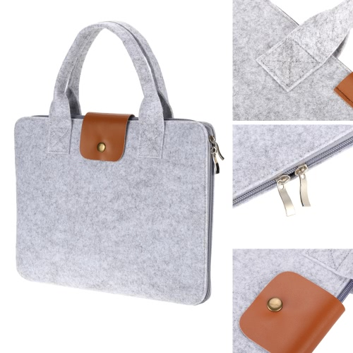 13 Portable Felt Carrying Notebook Sleeve Bag Handbag Case Cover with Handle &amp; Zipper for MacBook/MacBook Air/Pro/Lenovo Laptop PComputer &amp; Stationery<br>13 Portable Felt Carrying Notebook Sleeve Bag Handbag Case Cover with Handle &amp; Zipper for MacBook/MacBook Air/Pro/Lenovo Laptop P<br>
