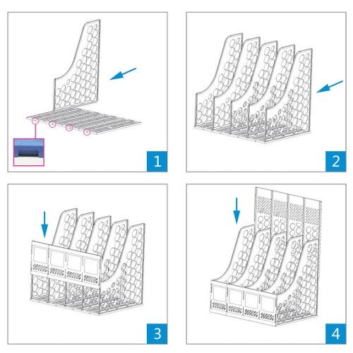 Comix B2176 Office Desktop Plastic Magazine File Literature Holders Organizer Labels 6 CompartmentComputer &amp; Stationery<br>Comix B2176 Office Desktop Plastic Magazine File Literature Holders Organizer Labels 6 Compartment<br>
