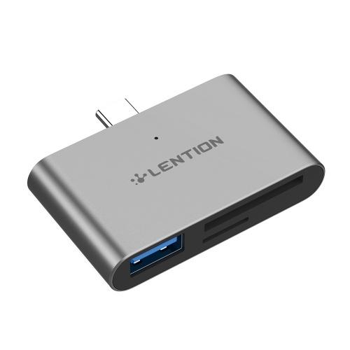 LENTION CB-TB-CS15-GRY Adaptateur USB Type C à Type-C Interface HD Convertisseur USB3.0 Vitesse de transfert de données élevée Charge rapide pour téléphones mobiles Notebook Tablette Ordinateur portable