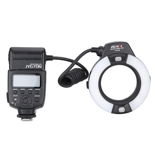 Viltrox JY-670Nカメラ内i-TTLマクロクローズアップフィルインLEDリングフラッシュスピードライトライト