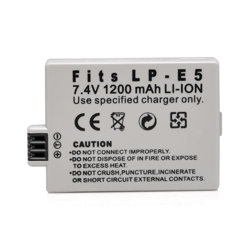 1200mAh 7.4V LP-E5 LPE5 Rechargeable Li-ion Battery Camera/Camcorder Battery for Canon SLRsT1i,XS,XSi,EOS 450D 500D 1000DCameras &amp; Photo Accessories<br>1200mAh 7.4V LP-E5 LPE5 Rechargeable Li-ion Battery Camera/Camcorder Battery for Canon SLRsT1i,XS,XSi,EOS 450D 500D 1000D<br>