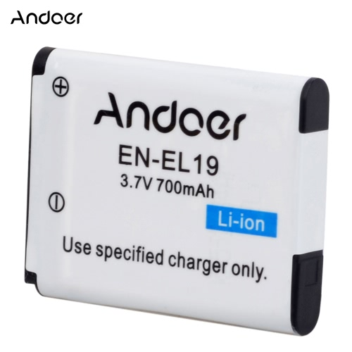 Andoer EN-EL19 Rechargeable Replacement Camera Camcorder Li-ion Lithium Battery for Nikon S32 S33 S7000 S6900 S6800 S3700 S2900 S2Cameras &amp; Photo Accessories<br>Andoer EN-EL19 Rechargeable Replacement Camera Camcorder Li-ion Lithium Battery for Nikon S32 S33 S7000 S6900 S6800 S3700 S2900 S2<br>