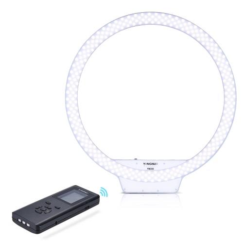 Buy YONGNUO YN308 3200K~5500K Bi-Color Temperature Wireless Remote LED Ring Video Light Annular Frameless Appearance Design Adjustable Brightness CRI≥95 Handle Grip Controller Portrait Live Selfie