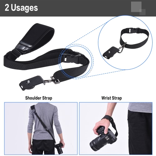 Andoer Professional Rapid Quick Release Camera Shoulder Sling Neck Wrist Strap for Canon Nikon Sony DSLR ILDC DV Outdoor ShootingCameras &amp; Photo Accessories<br>Andoer Professional Rapid Quick Release Camera Shoulder Sling Neck Wrist Strap for Canon Nikon Sony DSLR ILDC DV Outdoor Shooting<br>