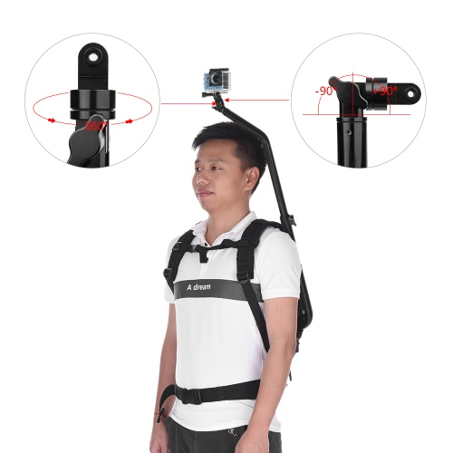 SHOOT Sports Camera Selfie Photography Backpack Bag with Mounting Bracket Adapter for GoPro 5/4/3+/3 for XiaoYi SJCAM Action CamerCameras &amp; Photo Accessories<br>SHOOT Sports Camera Selfie Photography Backpack Bag with Mounting Bracket Adapter for GoPro 5/4/3+/3 for XiaoYi SJCAM Action Camer<br>
