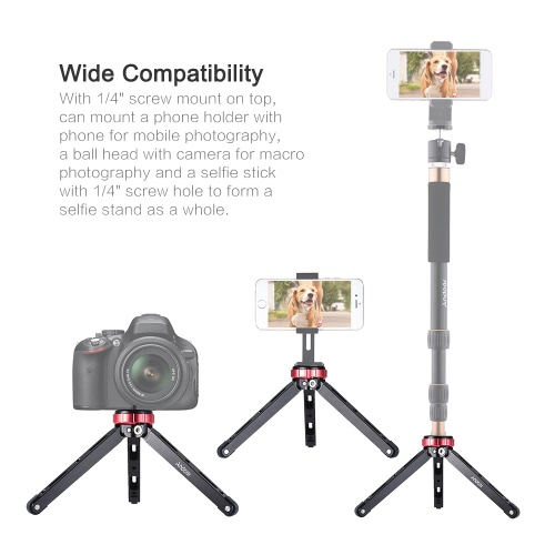 Andoer MT-01 Portable Aluminum Alloy Tabletop Tripod Mini Mobile/Camera Photography Bracket with 1/4 Screw Mount Max Load 80kgCameras &amp; Photo Accessories<br>Andoer MT-01 Portable Aluminum Alloy Tabletop Tripod Mini Mobile/Camera Photography Bracket with 1/4 Screw Mount Max Load 80kg<br>