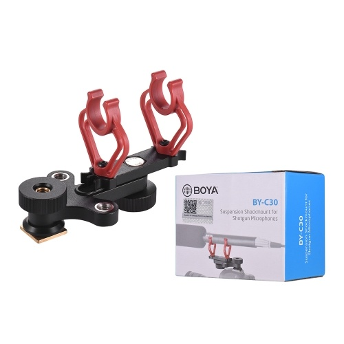 Sapata da câmera do grampo do suporte da montagem de choque de BOYA BY-C30 para o diâmetro dos microfones 18-20mm da espingarda