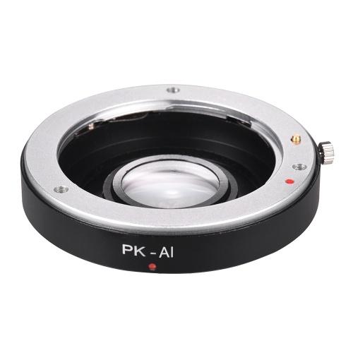 Anillo de adaptador de montaje de lente PK-AI con cristal óptico para lente de montaje Pentax K a apto para Nikon AI F Soporte de cuerpo de cámara infinito