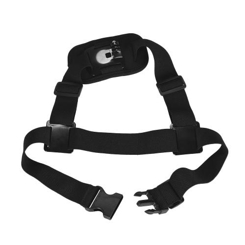 Cámara de acción ajustable con un solo hombro Correa para el pecho para GoPro hero 7/6/5/4 SJCAM / YI