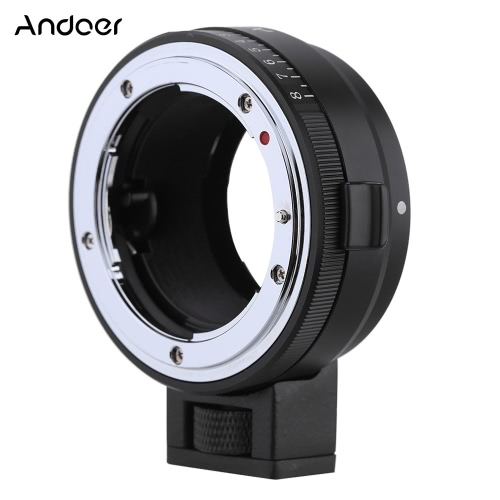 Andoer NF-NEX Lens Mount Adapter with Aperture Dial for Nikon G/DX/F/AI/S/D Type Lens to use for Sony E-Mount NEX Camera 3/3N/5N/5Cameras &amp; Photo Accessories<br>Andoer NF-NEX Lens Mount Adapter with Aperture Dial for Nikon G/DX/F/AI/S/D Type Lens to use for Sony E-Mount NEX Camera 3/3N/5N/5<br>
