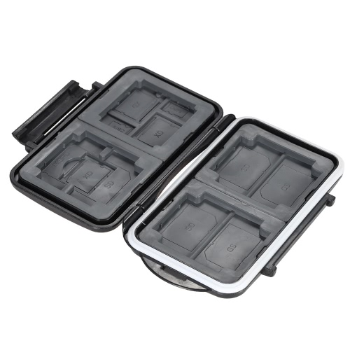 LYNCA Memory Card Storage Box Case Holder Protecter for 4CF+5SD+3XD+2TF+1MSPD ABS TPR Material Water-resistant Antiskid Camera AccCameras &amp; Photo Accessories<br>LYNCA Memory Card Storage Box Case Holder Protecter for 4CF+5SD+3XD+2TF+1MSPD ABS TPR Material Water-resistant Antiskid Camera Acc<br>