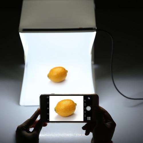 Mini-photographie portative pliable LED Lightbox Studio