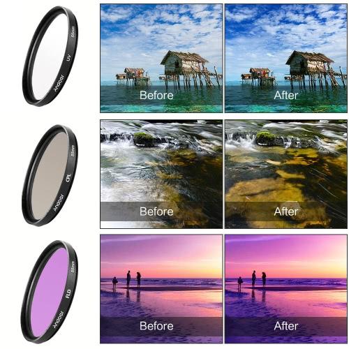 Andoer 58mm Filter Kit (UV+CPL+FLD) + Nylon Carry Pouch + Lens Cap + Lens Cap Holder + Lens Hood + Lens Cleaning ClothCameras &amp; Photo Accessories<br>Andoer 58mm Filter Kit (UV+CPL+FLD) + Nylon Carry Pouch + Lens Cap + Lens Cap Holder + Lens Hood + Lens Cleaning Cloth<br>
