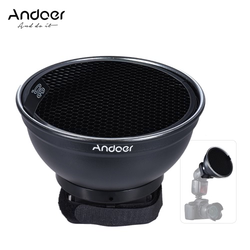 Andoer 5.9 (15cm) Silver Beauty Dish Diffuser w/ 30 Degree Honeycomb for Neewer Canon Nikon Yongnuo Godox  Meike Vivitar PhotograCameras &amp; Photo Accessories<br>Andoer 5.9 (15cm) Silver Beauty Dish Diffuser w/ 30 Degree Honeycomb for Neewer Canon Nikon Yongnuo Godox  Meike Vivitar Photogra<br>