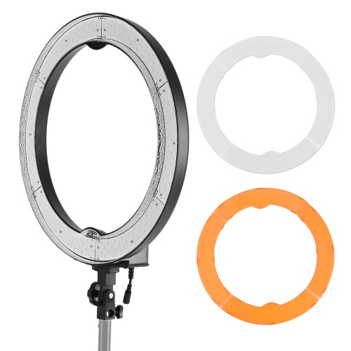 Andoer RL-680S 18.9/48cm 55W Dimmable 5500K Macro LED Video Ring Light Lamp 240pcs Beads w/ White Orange Filter Flexible Metal PoCameras &amp; Photo Accessories<br>Andoer RL-680S 18.9/48cm 55W Dimmable 5500K Macro LED Video Ring Light Lamp 240pcs Beads w/ White Orange Filter Flexible Metal Po<br>