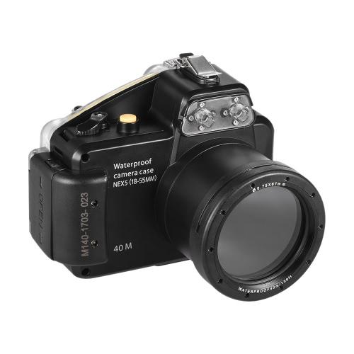 MEIKONカメラ防水ダイビングハウジング保護ケースカバーソニーNEX-5用水中40メートル/ 130フィート(18-55MM)