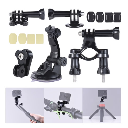 Universal Mount Base Accessories Holder Support w/ Suction Cup + Flat/Round Mount + Bicycle Mount for Sports Action Cam 360° VR ViCameras &amp; Photo Accessories<br>Universal Mount Base Accessories Holder Support w/ Suction Cup + Flat/Round Mount + Bicycle Mount for Sports Action Cam 360° VR Vi<br>
