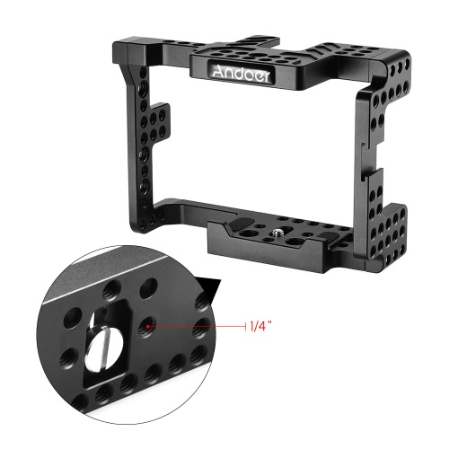 Andoer Protective Video Camera Cage Stabilizer Protector w/ Top Handle for Sony A7II A7RII A7SII  ILDC Mirrorless CamcorderCameras &amp; Photo Accessories<br>Andoer Protective Video Camera Cage Stabilizer Protector w/ Top Handle for Sony A7II A7RII A7SII  ILDC Mirrorless Camcorder<br>