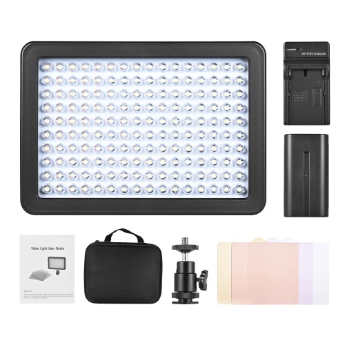 Andoer 160 LED Video Camera Light Lamp 10.5W Dimmable 5600K with 4600mAh F750 Battery/Charger/3 Filter/Adapter/Padded Bag for CanoCameras &amp; Photo Accessories<br>Andoer 160 LED Video Camera Light Lamp 10.5W Dimmable 5600K with 4600mAh F750 Battery/Charger/3 Filter/Adapter/Padded Bag for Cano<br>