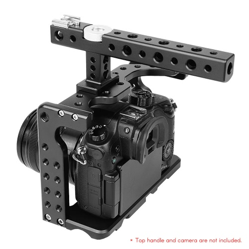Video Camera Cage Stabilizer Aluminum Alloy for Panasonic GH5/GH4 DSLR to Mount Mic Monitor LED Light Film Making AccessoriesCameras &amp; Photo Accessories<br>Video Camera Cage Stabilizer Aluminum Alloy for Panasonic GH5/GH4 DSLR to Mount Mic Monitor LED Light Film Making Accessories<br>
