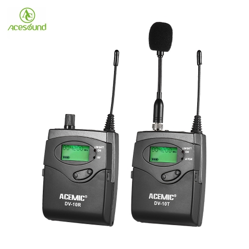 ACEMIC DV-10 UHF Wireless Transmitter Receiver MicrophoneCameras &amp; Photo Accessories<br>ACEMIC DV-10 UHF Wireless Transmitter Receiver Microphone<br>