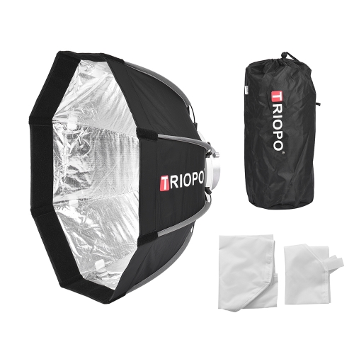TRIOPO 55cm Foldable 8-Pole Octagon Softbox with Soft Cloth Carrying Bag Bowens Mount for Studio Strobe Flash LightCameras &amp; Photo Accessories<br>TRIOPO 55cm Foldable 8-Pole Octagon Softbox with Soft Cloth Carrying Bag Bowens Mount for Studio Strobe Flash Light<br>