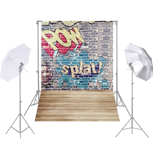 Andoer 1.5 * 2.1m / 5 * 7ft Street Graffiti Photography Background